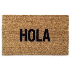 Hola Doormat 20x30, $45, now featured on Fab.