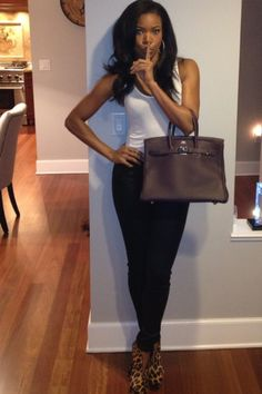 Purse Sasha picked up (who never shops yard sales) - Gabrielle Union, actress and former model. Among her notable roles is as the cheerleader opposite Kirsten Dunst in the film Bring it On, opposite Will Smith and Martin Lawrence in the blockbuster film Bad Boys II and played a medical doctor in the CBS drama series City of Angels. She also starred Deliver Us from Eva, Daddy's Little Girls, Something the Lord Made, The Honeymooners, Think Like a Man, Meet Dave and Cadillac Records.