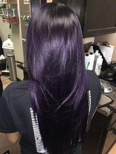 hair beauty - 40 trend hair colors for 2019 00060 ~ producttall com Pelo Color Borgoña, Hair Color Purple, Purple Black Hair, Dark Violet Hair, Dark Plum Hair, Black Cherry Hair Color, Violet Hair Colors, White Hair, Deep Purple