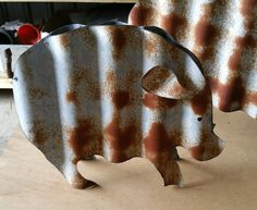 This rusty Piglet is constructed from recycled corrugated iron. + Cheap to feed. + No mess to clean up after. + Not very good bacon producers. + Adds that 'country feel' to any garden. Measurements: 33cm x 5cm x 33cm Please Note: As each piece of recycled corrugated iron is different no piece can be […]