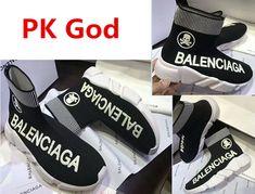 los angeles c7ab4 22d58 Latest Fashion Balenciaga Speed Trainer Sneaker logo black Multicolour Knit  Sock PK God Perfectkicks south kore