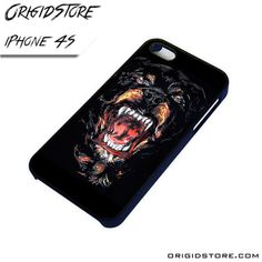 Rottweiler Growning Scary Case For Iphone 4/4S Case