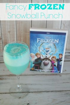 Fancy FROZEN Snowball Punch Made this quick and fun drink for a family movie night watching Frozen. My girls LOVED it! #ad