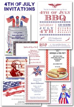 4th of July Party #Invitations