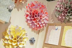 giant flowers with scrapbook paper made by Smock || via Poppytalk