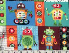 Robots & Gears Fabric