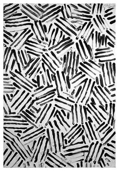 Black & White by Jasper Johns abstract illustration surface pattern Pattern Texture, Surface Pattern Design, Pattern Art, Free Pattern, Pattern Painting, Colour Pattern, Pattern Designs, Motifs Textiles, Textile Patterns