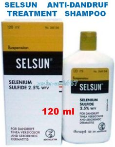*120ml SELSUN ANTI-DANDRUFF TREATMENT SHAMPOO, 2.5% Selenium Sulfide-Shampoo used to treat dandruff and seborrhoeic dermatitis (a greasy, crusting, itching scalp caused by excess oil). $9.55. click here see THIS ITEM:  http://www.ebay.ca/itm/-/161295101887?roken=cUgayN.  click on the link see MORE ITEMS:    http://www.ebay.com/usr/asia-achi67