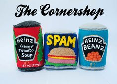 Kickstarter Art Project The Cornershop by Lucy Sparrow of Sew Your Soul - Cream Of Tomato Soup, Bethnal Green, Creative Review, Felt Food, Everyday Objects, Textile Artists, Felt Crafts, Felt Diy, Handmade Felt