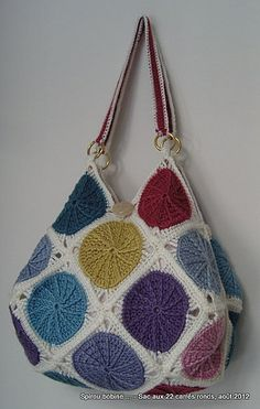 """My bag """"22 squares"""" with Sunny Spread pattern"""