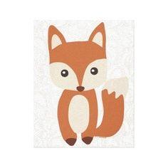 Cute cartoon fox face - photo#1