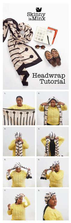 The Skinny laMinx stockroom manager Nobuzwe is one stylish lady and can rock a headwrap in all kinds of ways. Here she shares one of her favourits styles with us in a nifty headwrap tutorial, using our Matchsticks blockprint scarf. Head Wraps, Nifty, Skinny, Rock, Patterns, Stylish, Lady, Shop, Block Prints