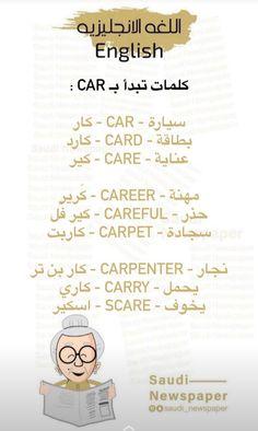 English Phonics, Teaching English Grammar, English Language Learners, English Vocabulary Words, English Phrases, Learn English Words, Education English, Sms Language, Learn Arabic Online