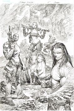 Cyber Force by Marc Silvestri - Comic Art by Marc Silvestri