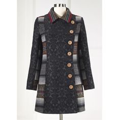 Midnight Garden Embroidered Coat - Women's Clothing, Unique ...