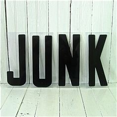 Vintage Letters are the BEST! This is JUNK, but it's NOT junk :)