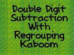 A whole class game to review double digit subtraction with regrouping....