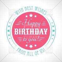 Birthday card with vintage typography font, 40655, download royalty-free vector clipart (EPS)