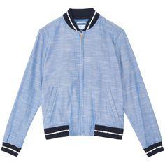 Gant Rugger Chambray Varsity Jacket, SS14, via Gant
