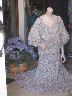 Ralph Lauren DENIM & CO. Dress-Skirt & Top  Romantic Boho Ruffle Maxi Floral  M #RalphLaurenDenimSupply #Maxi #Casual