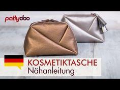 """Kosmetiktasche """"Geo-Bag"""" – Nähvideo und Gratis Schnittmuster für 2 Größen   pattydoo Blog"""