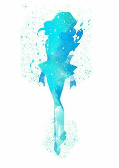 Sailor Neptune acuarela