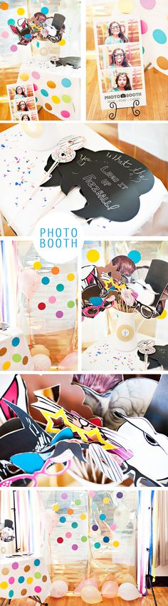 DIY Photo Booth! Free Printables www.jleeblog.com