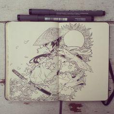 #5 Sun Day Samurai by 365-DaysOfDoodles on DeviantArt