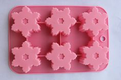 Free shiping Snowflake Silicone Cake Mold Muffin Cupcake Chocolate Craft Candy Baking Soap molds. $8.69, via Etsy.