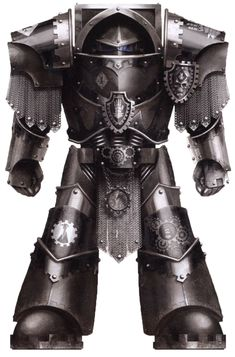A Pre-Heresy Iron Hands Legion Morlock in Cataphractii Terminator Armour
