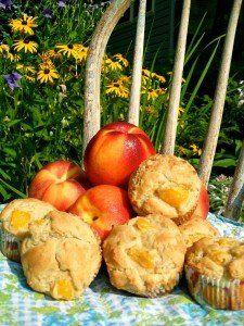 Gluten Free Dairy Free Peach Muffins recipe #glutenfree #dairyfree #breakfast