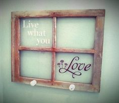old window...live what you love #uppercaseliving #oldwindow #peggysfrontporch