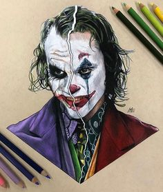 Ledger/Phoenix The Joker by Matthew Edewaard Der Joker, Joker Art, Joker And Harley Quinn, Joker And Harley Tattoo, Joker Images, Joker Pics, Joker Heath, Dc Comics Art, Batman Comics