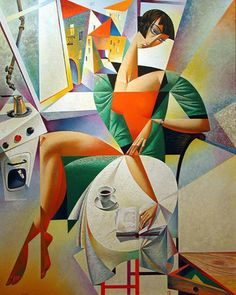 20 Mind Blowing and Beautiful Cubist Art Works By Georgy Kurasov Cubist Artists, Pichwai Paintings, Cubism Art, Modern Artists, Colorful Paintings, Art And Illustration, Art Painting Gallery, Georges Braque, Abstract Painters