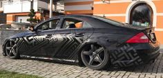 Black matt on black gloss decoration on Mercedes. We collect and generate ideas: ufx.dk