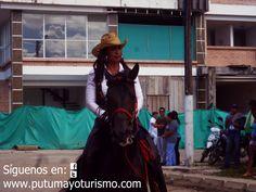 Participación en la cabalgata de la gerente de la Empresa de Energía del Bajo Putumayo, Yolima Gaitan.