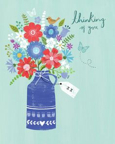 Joanne Cave | Advocate Art Birthday Greetings, Birthday Wishes, Jim Mitchell, Happy Birthday Floral, Thinking Of You Quotes, Illustration, Get Well Cards, Birthday Photos, How To Draw Hands