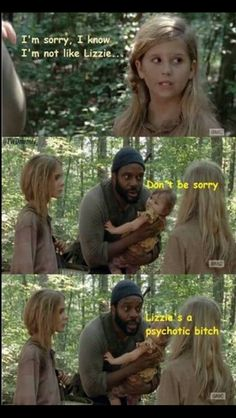 Walking Dead // Lizzie, Micah and Tyreese