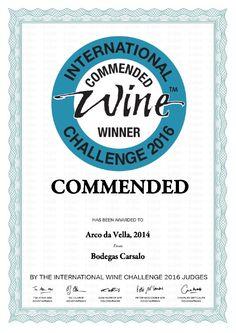 Albariño Arco da Vella  - Commended IWC 2016 #wine #RiasBaixas
