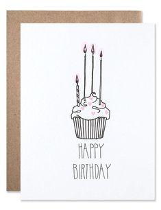 Birthday Diy, Handmade Birthday Cards, Happy Birthday Cards, Cupcake Birthday, Birthday Candles, Birthday Gifts, Creative Birthday Cards, Birthday Design, Card Birthday