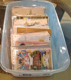 Vintage Postcards 248 Post Cards Box Lot Antique postcards-Estate-ooo359 #Topical