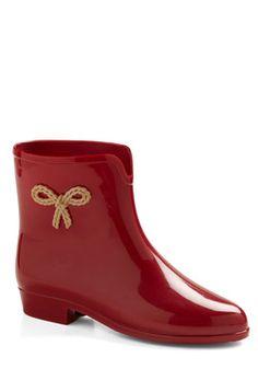 Smiling and Splashing Rain Boot, #ModCloth