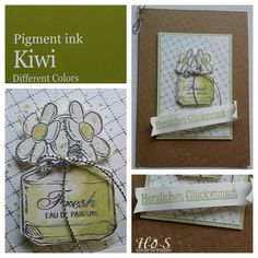 Afbeeldingsresultaat voor perfume different colors stamp Kiwi, Tea Bag Art, Pigment Ink, Flower Cards, Picsart, Different Colors, Stamps, Colours, Flowers