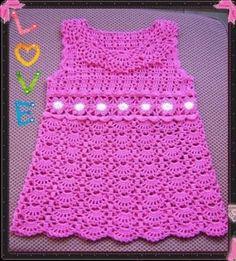 |How to crochet|: Crochet Patterns| for free |crochet baby dress| 19...
