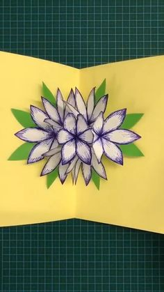DIY PAPER FLOWER Use hard paper to make a flower stereo greeting card. Save it, as a gift to your Diy Crafts Hacks, Diy Crafts For Gifts, Diy Home Crafts, Diy Arts And Crafts, Creative Crafts, Crafts For Kids, Diy Projects, Hard Crafts, Diys