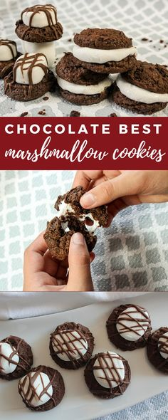 Chocolate Best Marshmallow Cookies | The cookies are soft, chocolaty and chewy. Easy cookie recipe!
