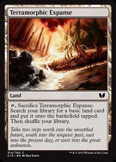 Magic: the Gathering - Terramorphic Expanse (314/342) - Commander 2015 *** Instant discounts available  : FREE Toys and Games