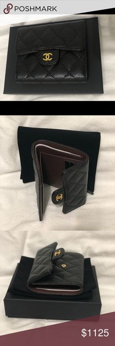 b3122f924e4 Chanel Classic Small wallet Brand new black caviar with golden hardware  CHANEL Bags Wallets