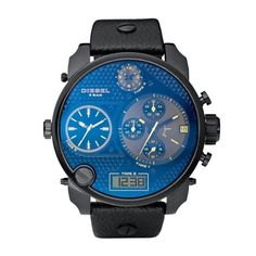 Round Chronograph Watch by Diesel at Neiman Marcus. Stylish Watches, Luxury Watches For Men, Cool Watches, Men's Watches, Wrist Watches, Amazing Watches, Beautiful Watches, Daddy, Big Face Watches