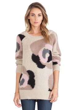 kate spade new york Deco Rose Mohair Sweater in Deco Beige Multi